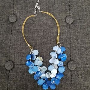 Light/baby blue layered necklace